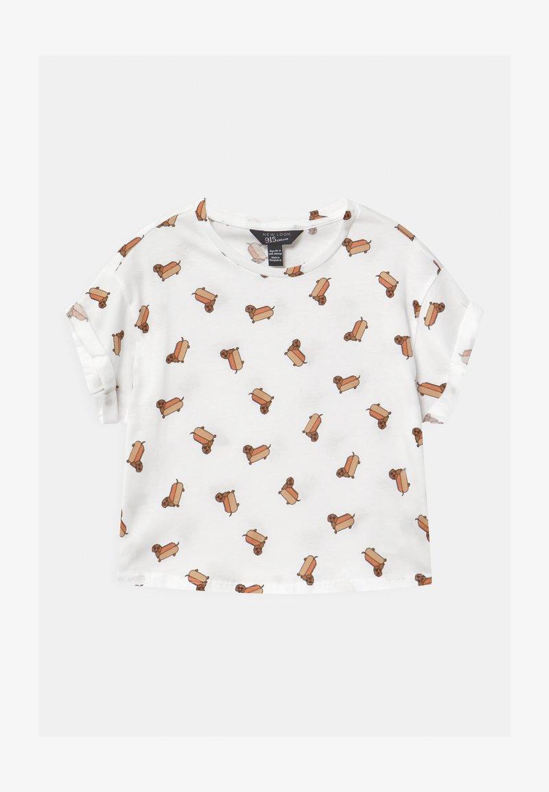 New Look 915 Generation - HOTDOG CONVERSATIONAL - T-shirt print - white