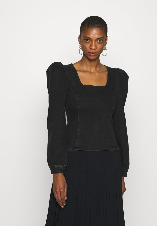 ASTRIDGZ BLOUSE - Camicetta - washed black