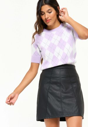 WITH SHORT SLEEVES - Jumper - purple