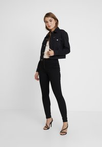 Missguided - RING ZIP OUTLAW - Jegging - black - 2