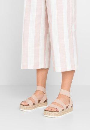 KIMMIE - Platform sandals - blush