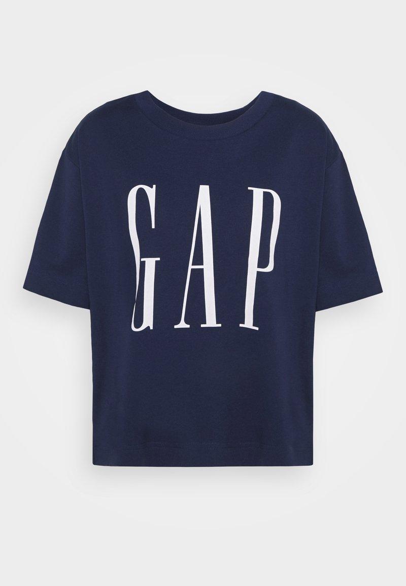 GAP - BOXY TEE - Print T-shirt - elysian blue