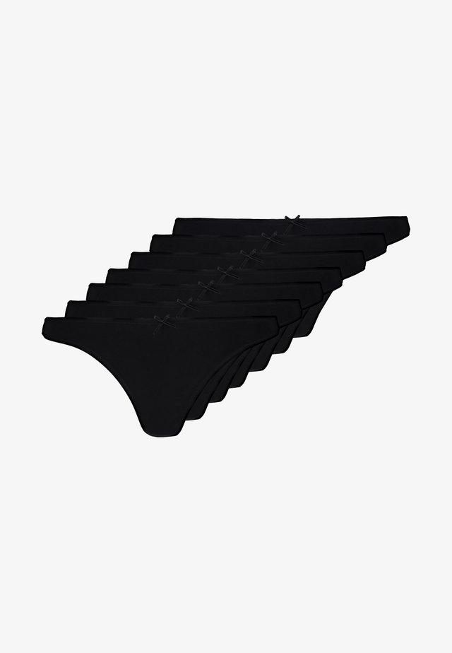 7 PACK - String - black