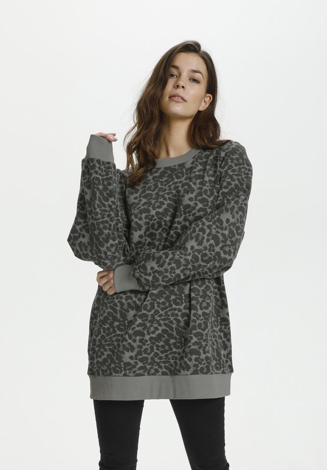 Sweatshirt - leo gray
