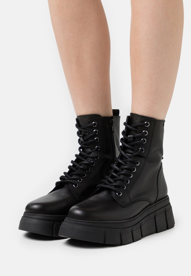 mtng - Lace-up ankle boots - black