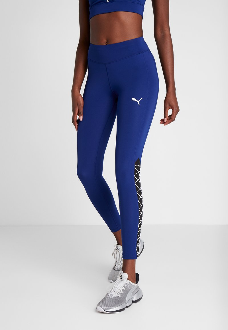 Puma - PAMELA  REIF X PUMA HIGH WAIST LACE UP LEGGINGS - Legginsy - blue depths