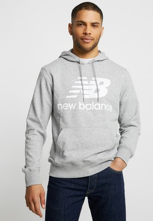 ESSENTIALS STACKED LOGO HOODIE - Felpa con cappuccio - athletic grey