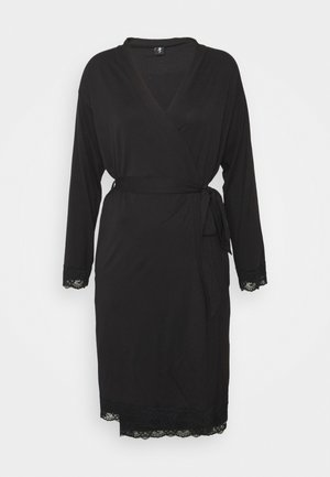 SOFA LOVES LACE WRAP GOWN - Dressing gown - black
