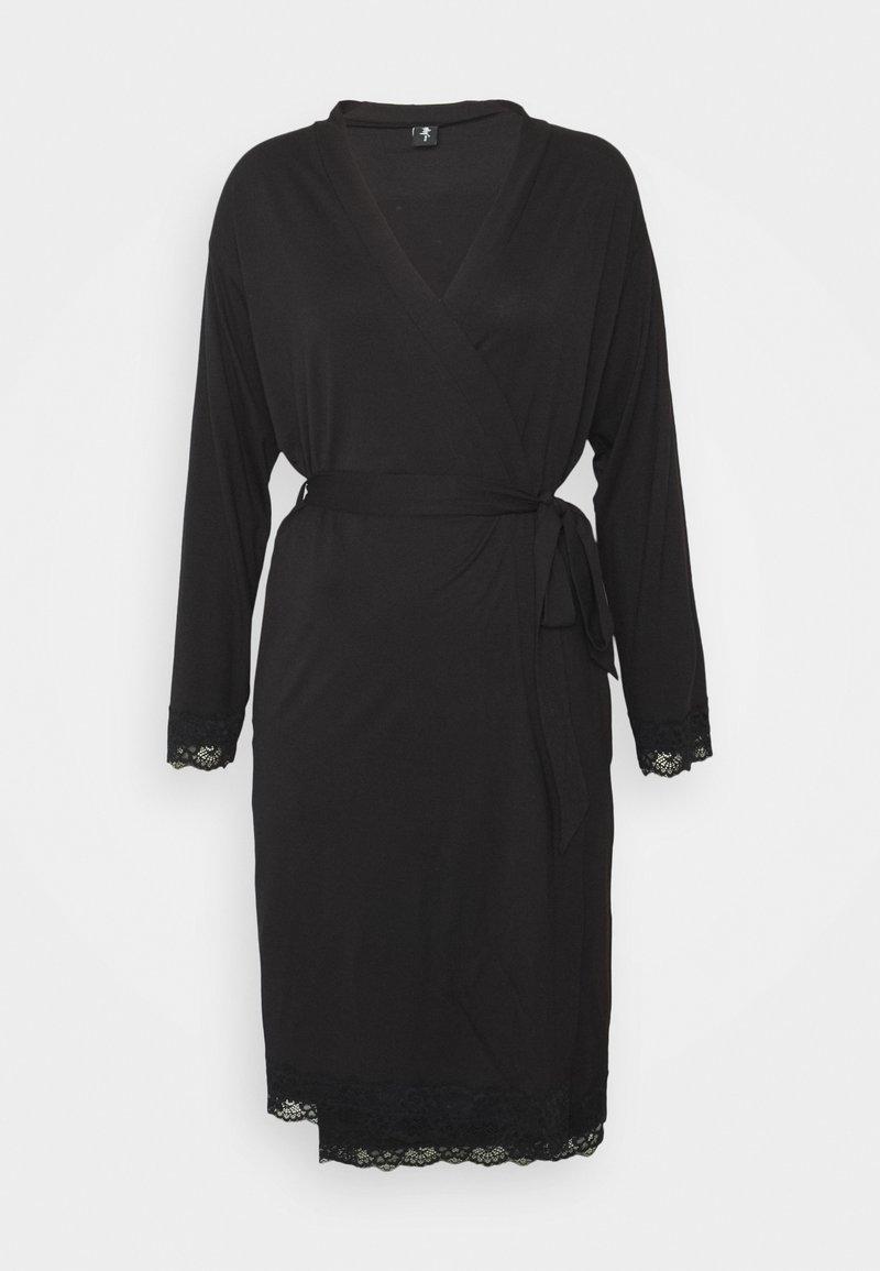 Pour Moi - SOFA LOVES LACE WRAP GOWN - Dressing gown - black