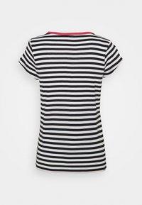 edc by Esprit - CAP SLEEVE - Print T-shirt - navy - 1