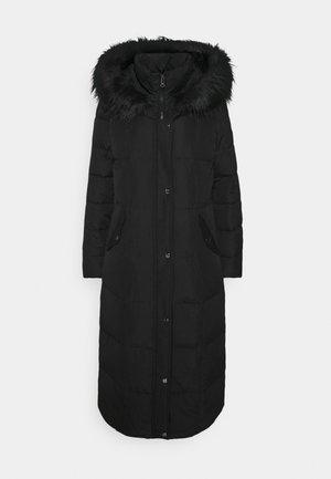 HAND MAXI COAT - Abrigo de plumas - black