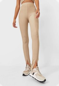 Stradivarius - Leggings - Trousers - brown - 0
