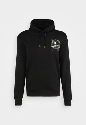 WORLD GRAPHIC HOODIE - Sweatshirt - black/white/limeade