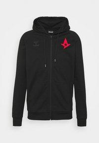 Hummel - ASTRALIS ZIP HOODIE - Zip-up sweatshirt - black - 3