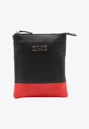 Across body bag - nero-rosso