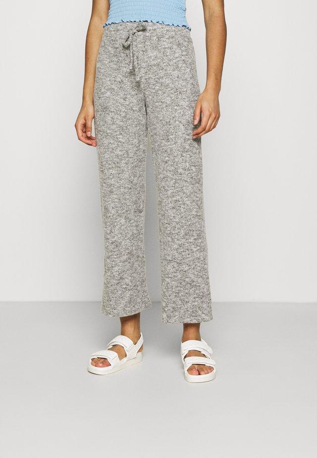 WIDE LEG BRUSHED TROUSER - Spodnie materiałowe - grey