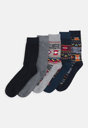 JACNAVAHO SOCKS 5 PACK - Socks - sun-dried tomato/navy blazer /ail
