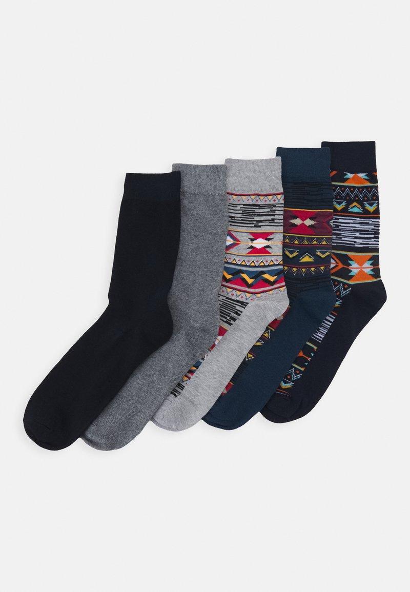 Jack & Jones - JACNAVAHO SOCKS 5 PACK - Socks - sun-dried tomato/navy blazer /ail