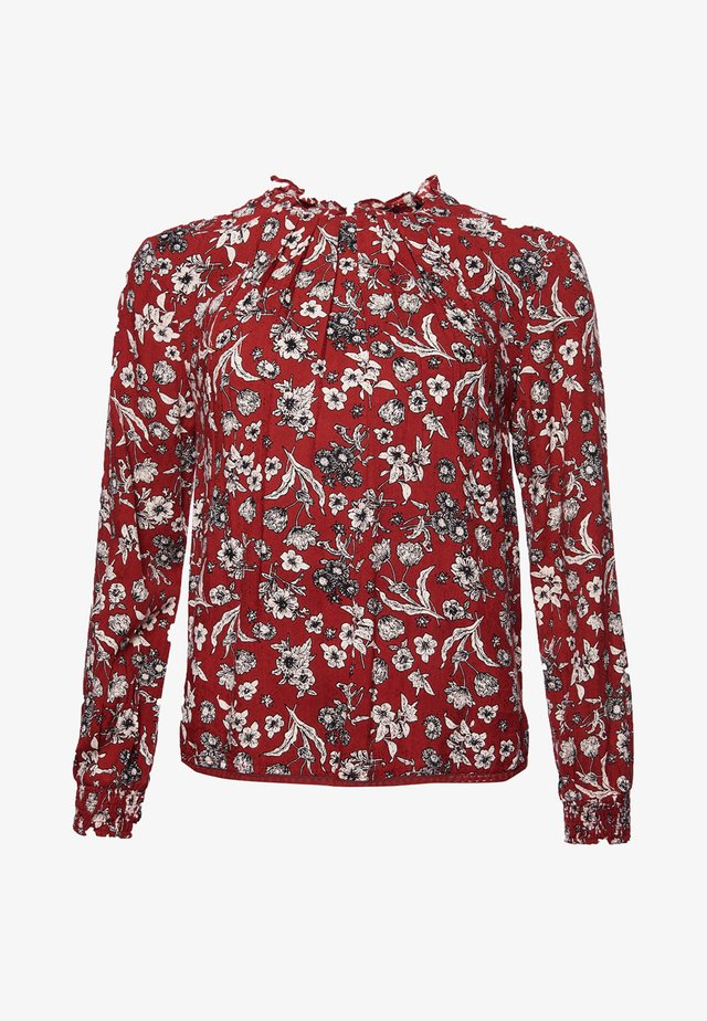 RICHELLE HIGH NECK  - Bluzka - ruby floral