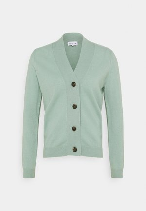 V NECK BUTTONS  - Cardigan - dusty green