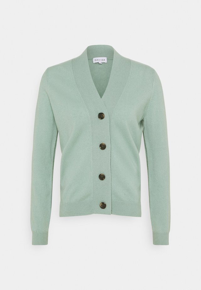 V NECK BUTTONS  - Gilet - dusty green