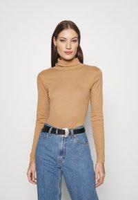 Dorothy Perkins - ROLL NECK 2 PACK  - Long sleeved top - black/camel - 1