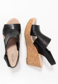 Clarks - ANNADEL  - Platform sandals - black - 3