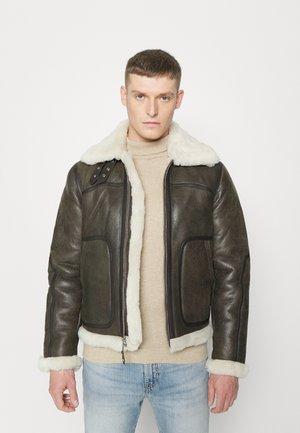 MADISON - Leather jacket - brown