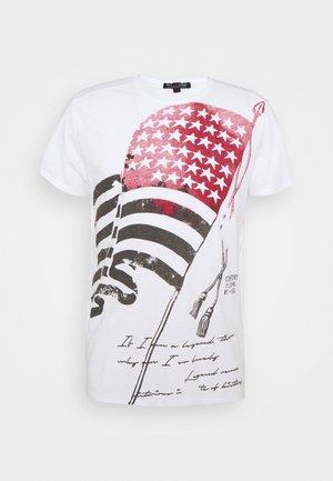 BANNER ROUND - Print T-shirt - white