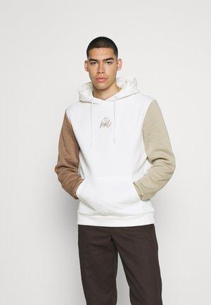 CANON TRI COLOUR HOOD - Sweater - vanilla ice/stone/crockery
