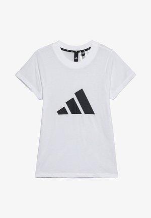 ID TEE - Print T-shirt - white/black