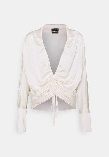 DRAWSTRING SHIRT - Bluzka z długim rękawem - egret