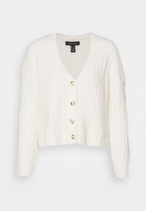 FLUFFY - Cardigan - white