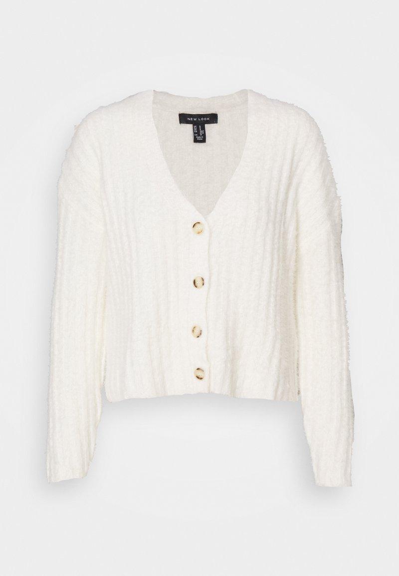 New Look - FLUFFY - Kardigan - white
