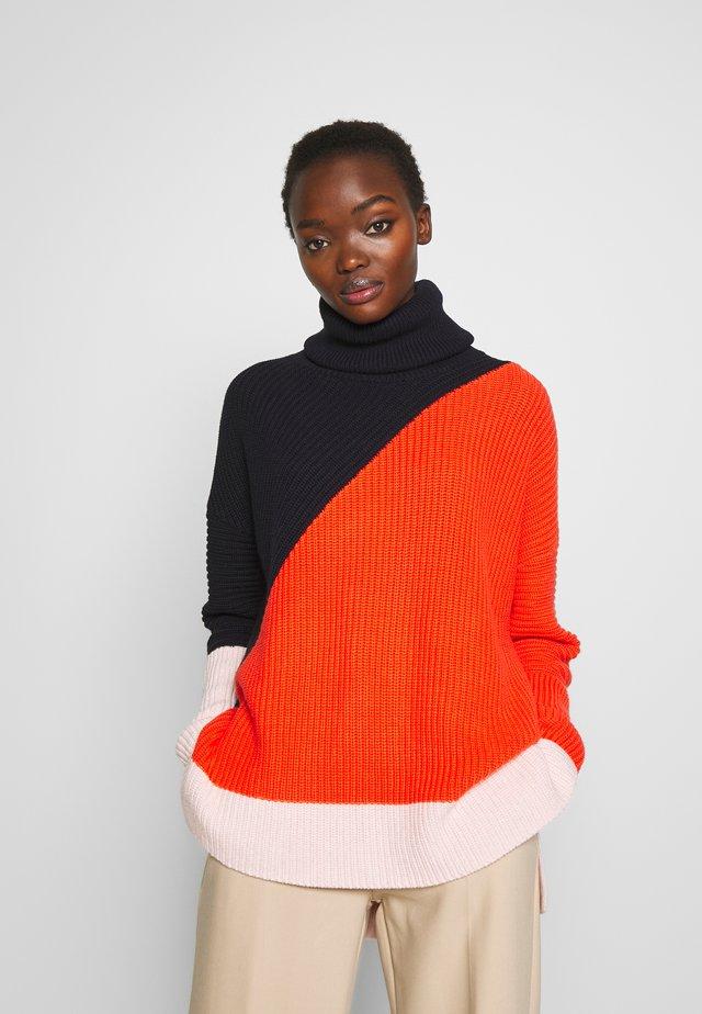 PIERA - Pullover - multi-coloured/red/dark blue
