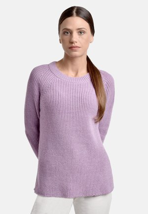 Stickad tröja - mauve