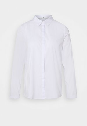 BLOUSE WITH FRILL DETAIL - Košile - white