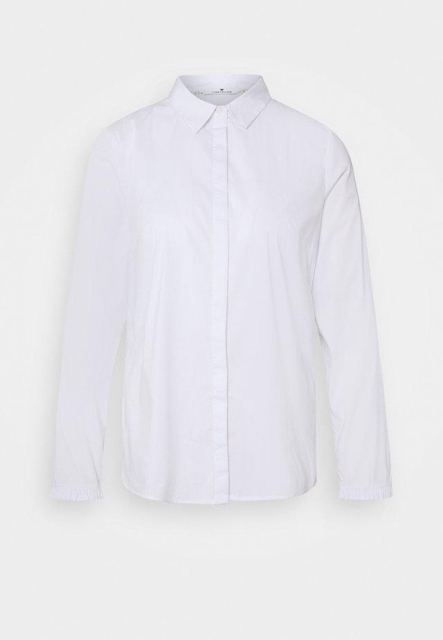 BLOUSE WITH FRILL DETAIL - Koszula - white