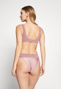 Topshop - SHIRRED FRONT CROP HI LEG - Bikini - rose - 2