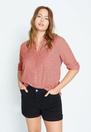 Button-down blouse - korallrot