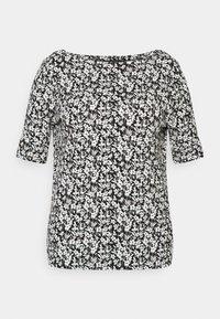 Lauren Ralph Lauren Woman - JUDY ELBOW SLEEVE - Print T-shirt - black/white - 4