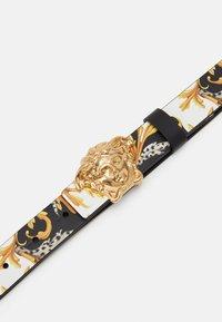 Versace - CINTURA FIBBIA MEDUSA UNISEX - Belt - nero/oro/bianco - 3