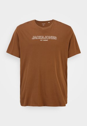 JJBANK TEE CREW NECK  - T-shirt print - bison