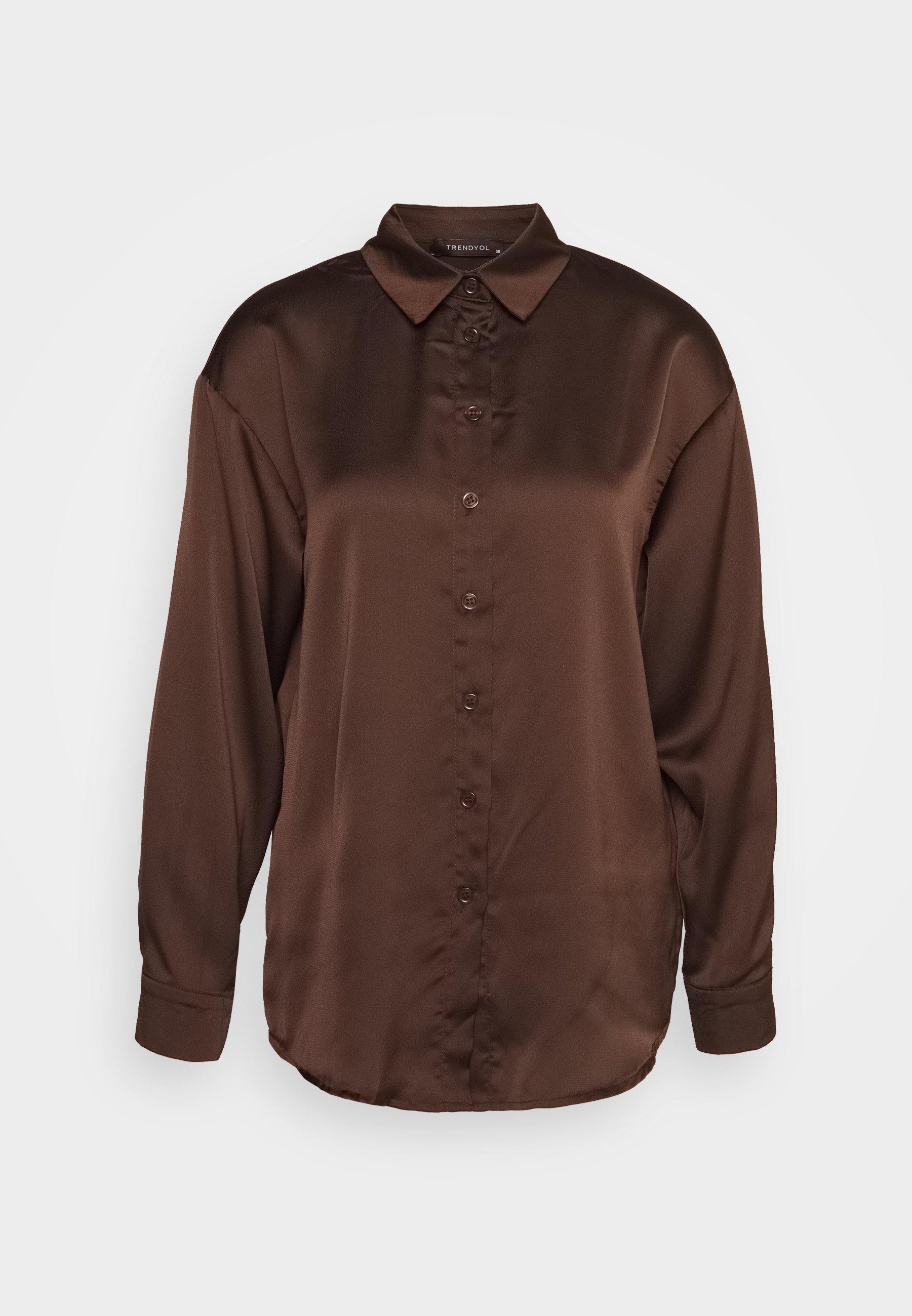brun skjorte dame