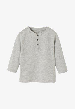 Long sleeved top - mottled light grey