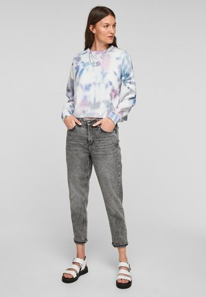 Sweatshirt - light blue aop