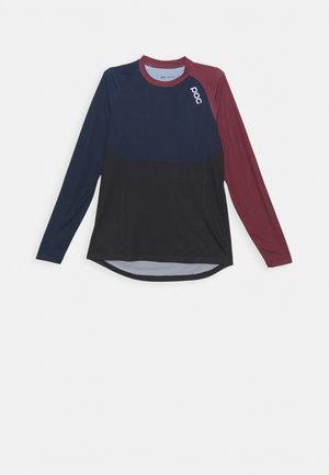 PURE  - Long sleeved top - red/turmaline navy/uranium black