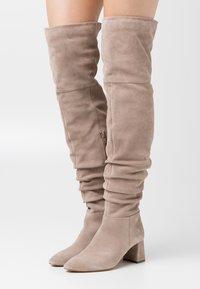 Zign - Overknee laarzen - beige - 0