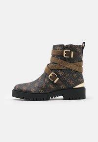 ORNINA - Cowboy/biker ankle boot - brown