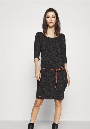 TANYA - Žerzejové šaty - black